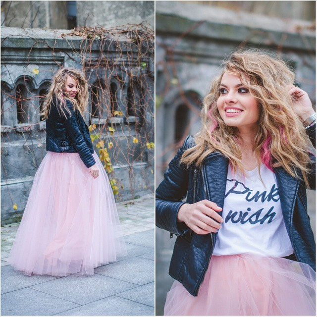 Today is the perfect day to be happy! #pinkwish #blogger #princess #tulle #tutu #leather #pink #blonde #happy #happiness #inspiration #love #ootd #photooftheday #photography #pastel @lookbook @aboutalook @chictopia @ootdsubmit @ootdmagazine @inspocafe @fashionclimaxx2
