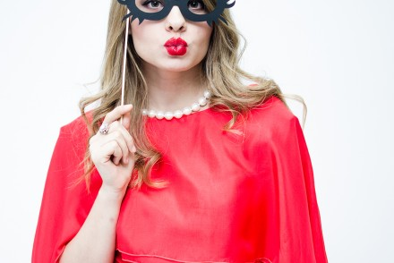 nye-outfit-red-dress-lyz-boutique-mask-kiss