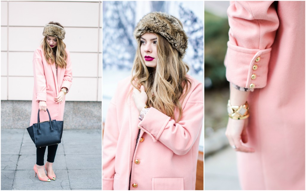 oversized-pink-coat-cocoon-peach-fur-headband