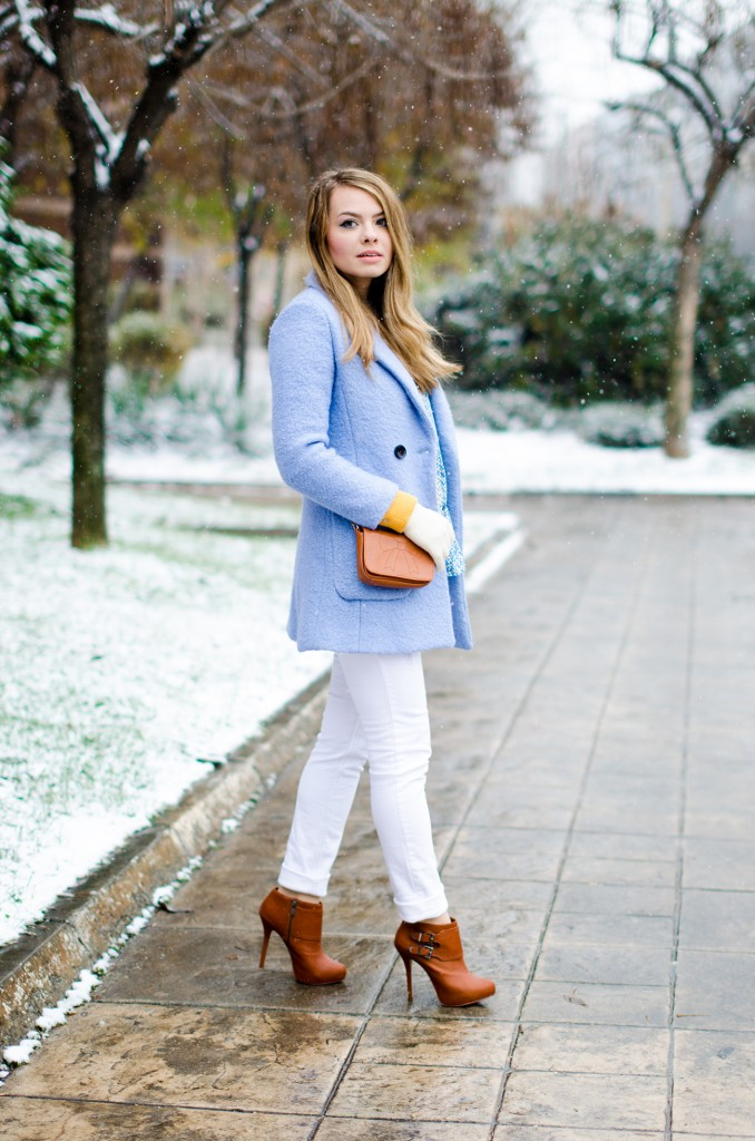 winter milanoo blue coat white pants brown boots 1