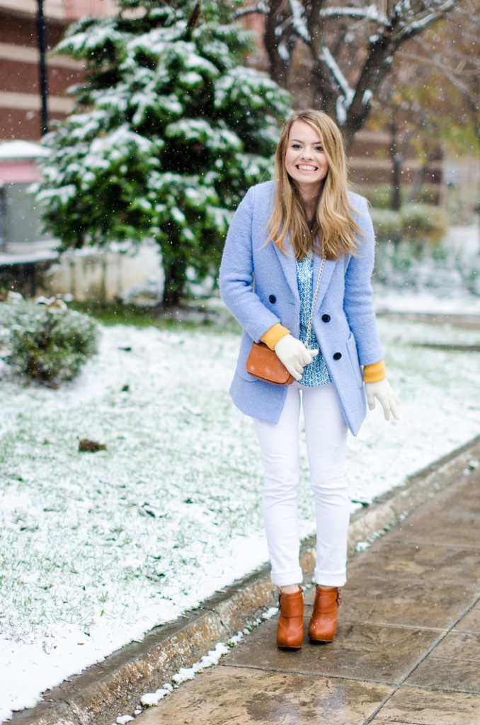 winter milanoo blue coat white pants brown boots 10