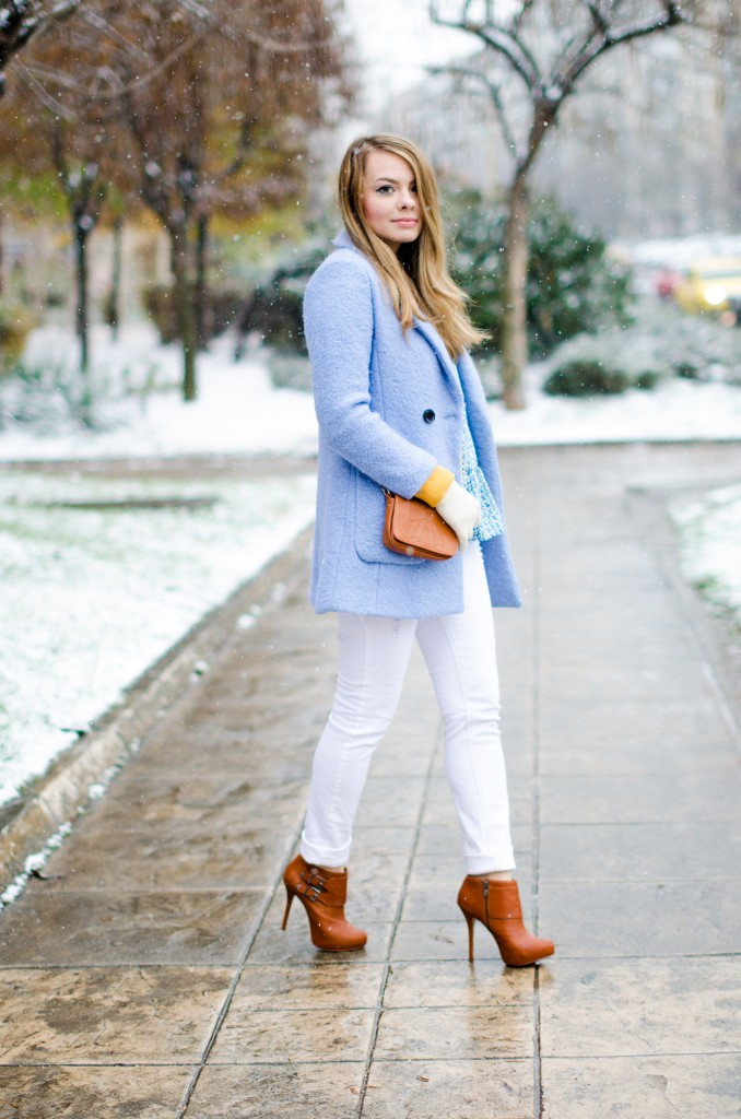 winter milanoo blue coat white pants brown boots 6