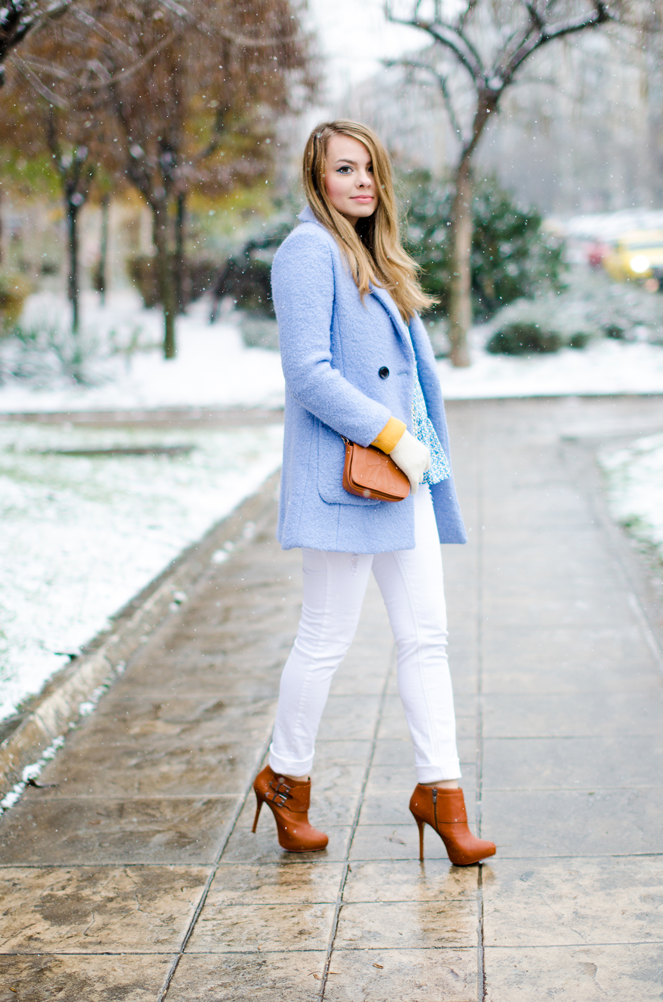 WINTER WONDERLAND AND THE BABY BLUE COAT - Pink WishPink Wish
