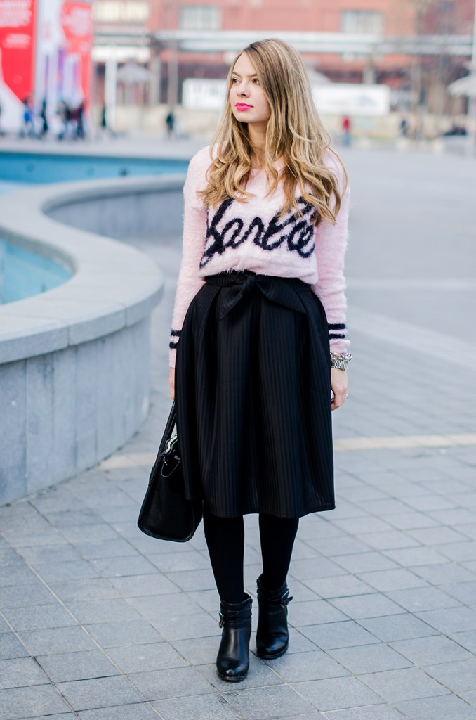 barbie-sweater-black-midi-skirt
