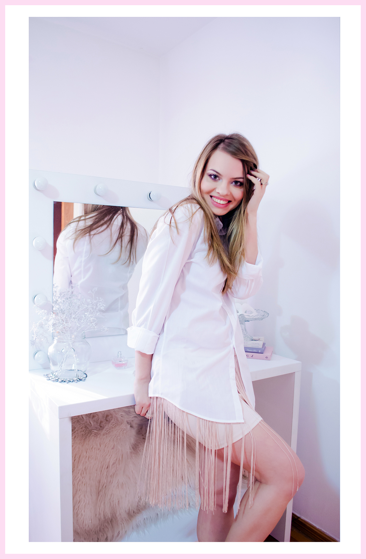 The Story Of The Pink Fringe Skirt And The White Shirt
