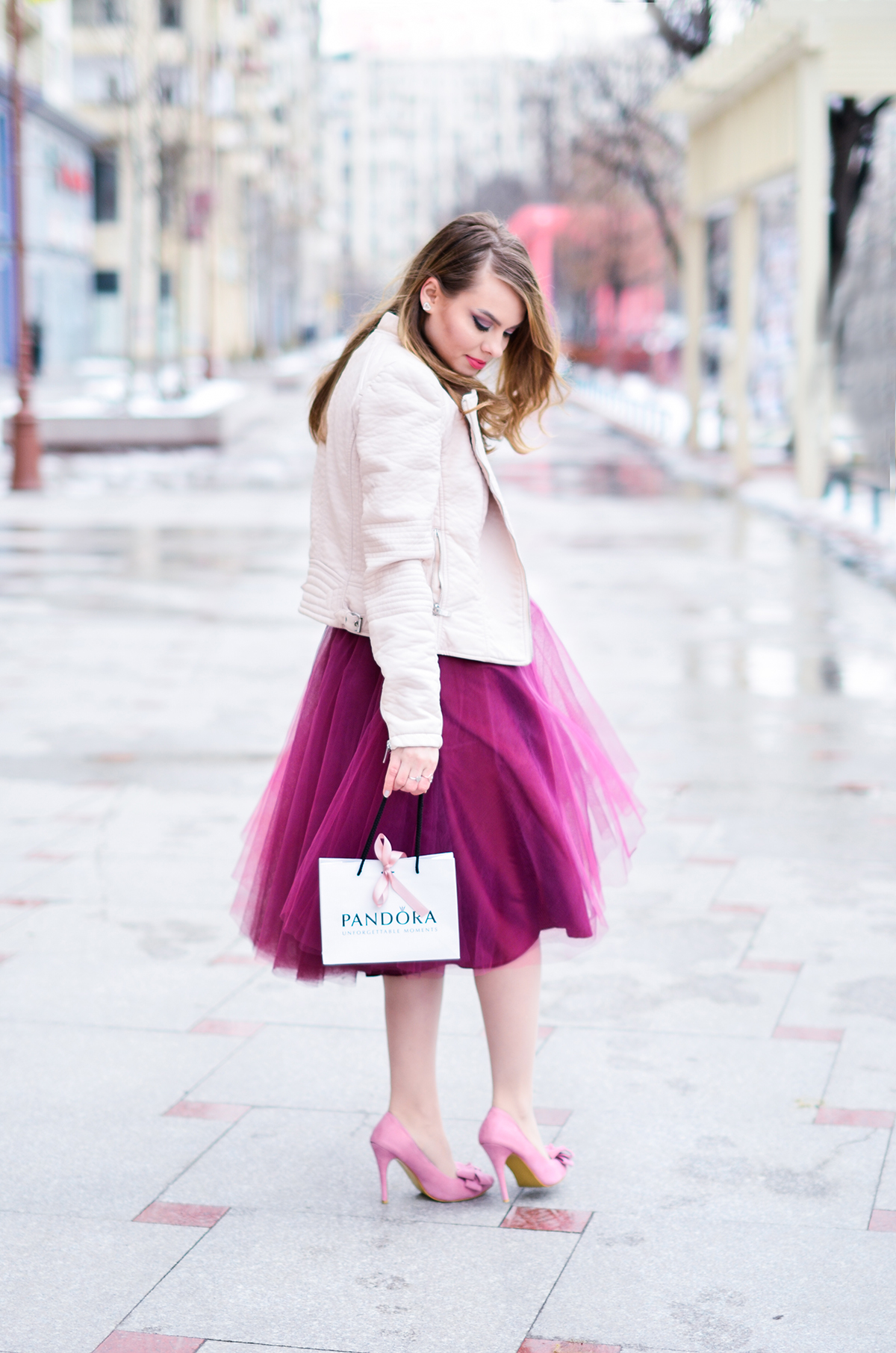 Valentine S Day Outfit Pink Burgundy And Tulle Pink