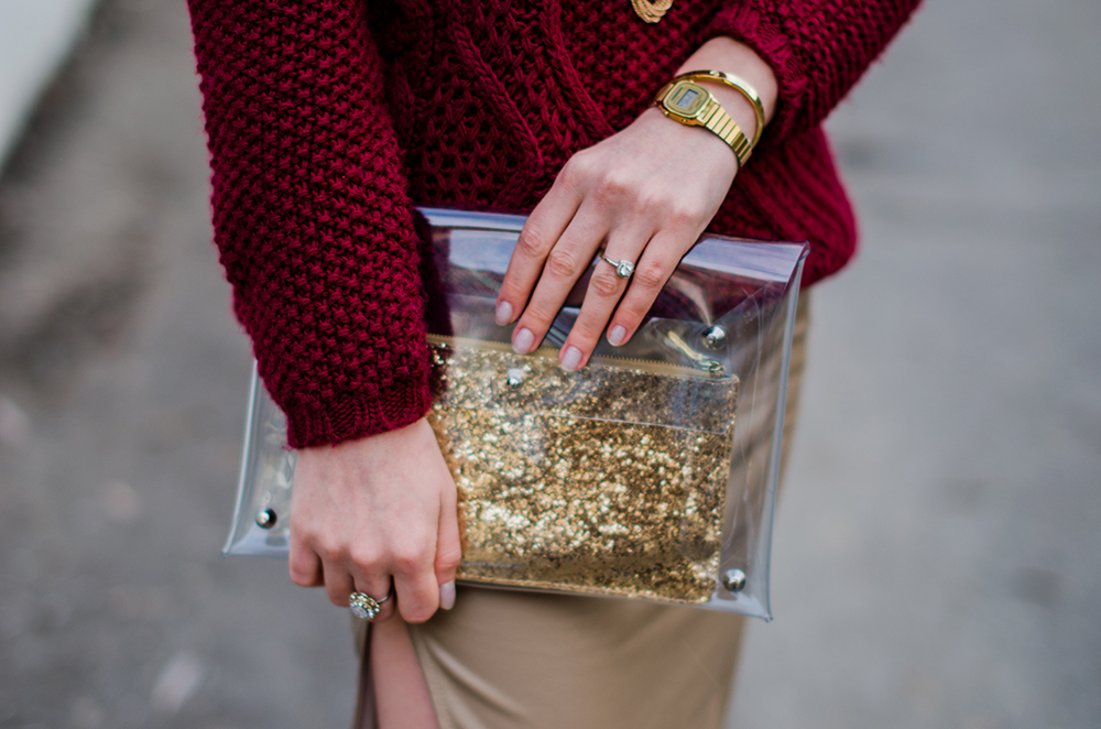 marsala-leather-transparent-clutch-glitter
