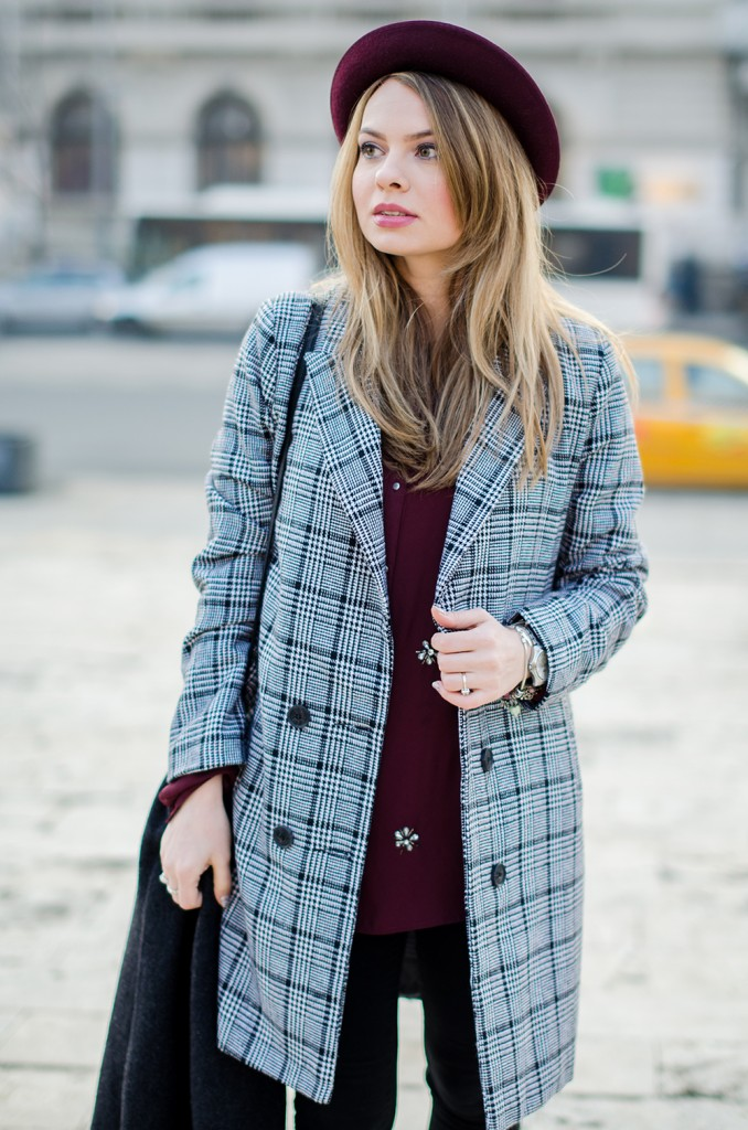 marsala-shirt-marsala-hat-white-sneakers-black-and-white-coat (2)