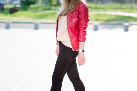 black-skinny-zara-pants-coral-leather-jacket-flower-crown-outfit-fashion-pink-wish (6)
