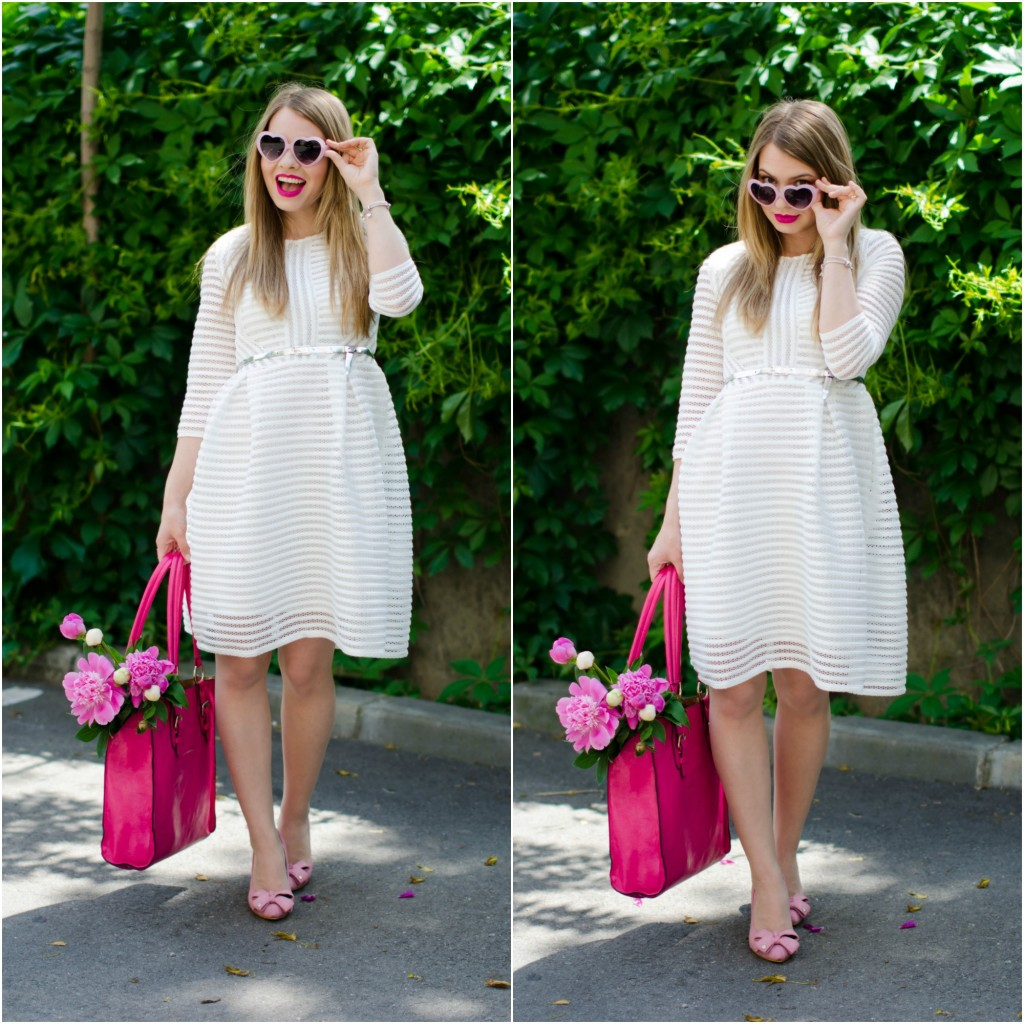 sheinside-white-midi-dress-pink-bow-heels-peonies-pink-feminine-outfit (1)
