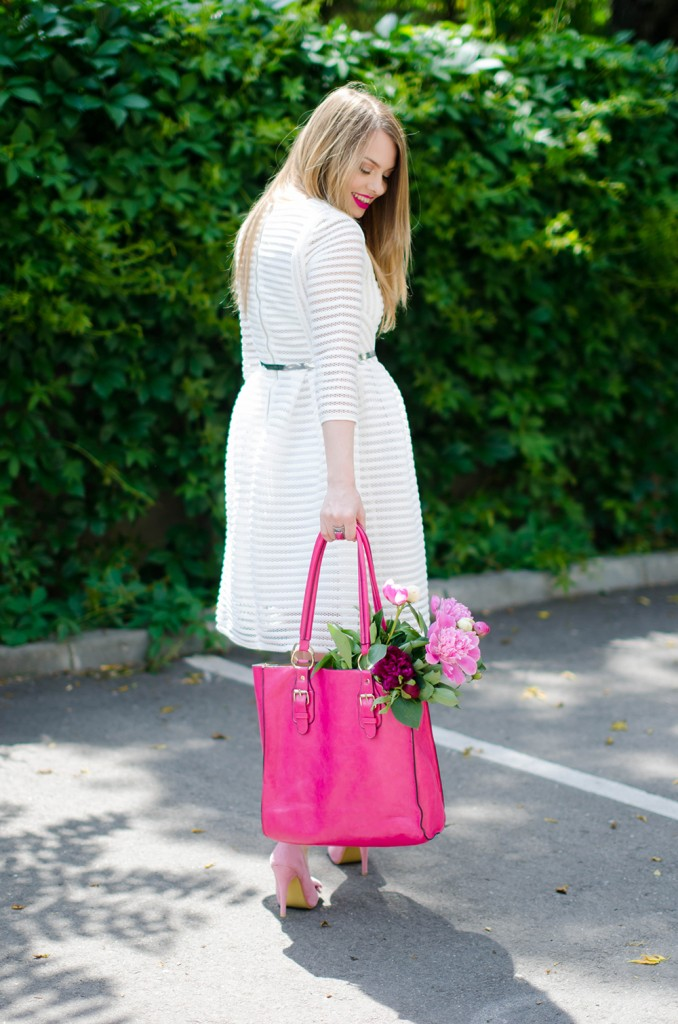 sheinside-white-midi-dress-pink-bow-heels-peonies-pink-feminine-outfit (11)