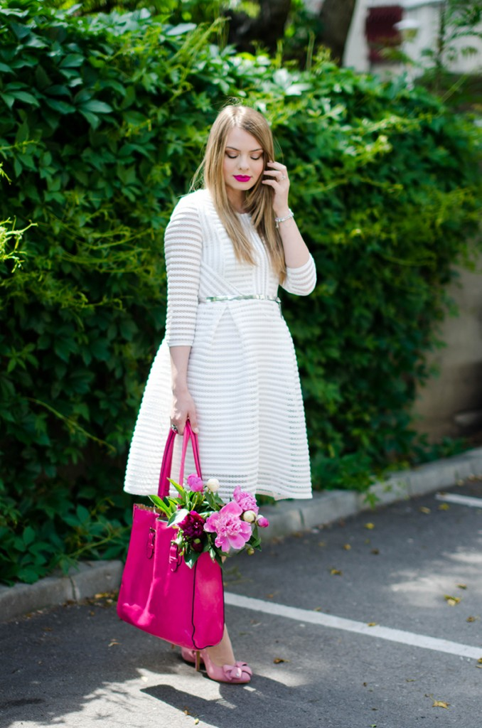 sheinside-white-midi-dress-pink-bow-heels-peonies-pink-feminine-outfit (2)