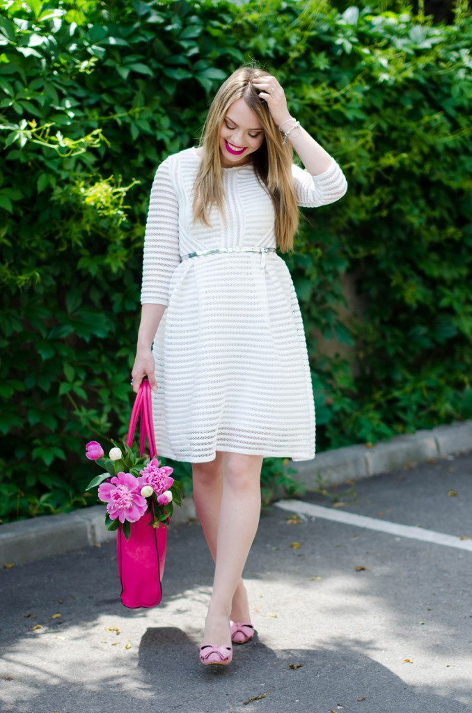 sheinside-white-midi-dress-pink-bow-heels-peonies-pink-feminine-outfit (3)
