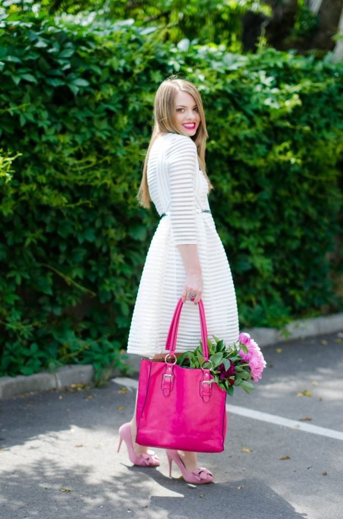 sheinside-white-midi-dress-pink-bow-heels-peonies-pink-feminine-outfit (5)