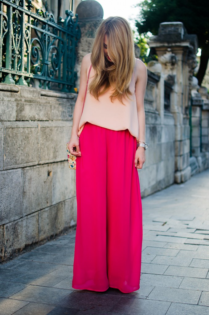 pink-palazzo-pants-peach-top-outfit-pink-wish-fashion