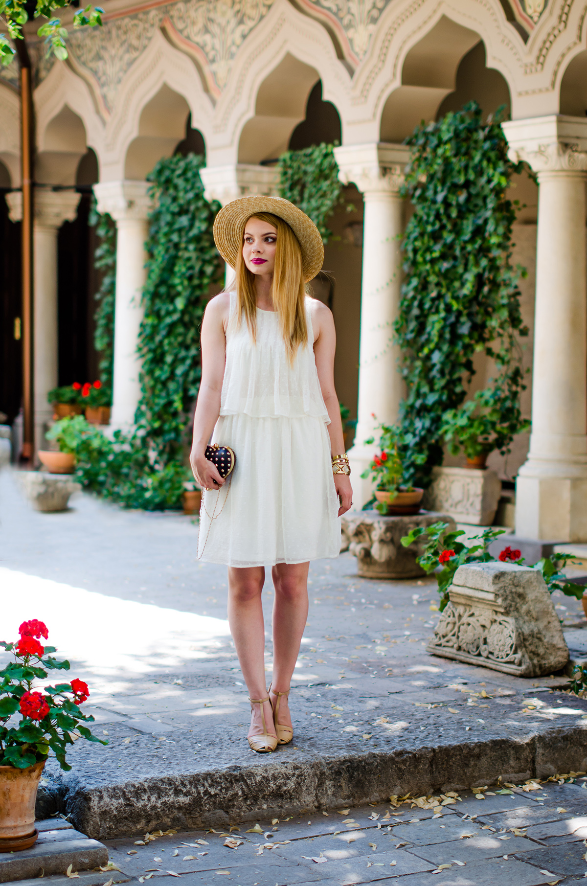 summer musts white dresses and straw hats pink wishpink wish