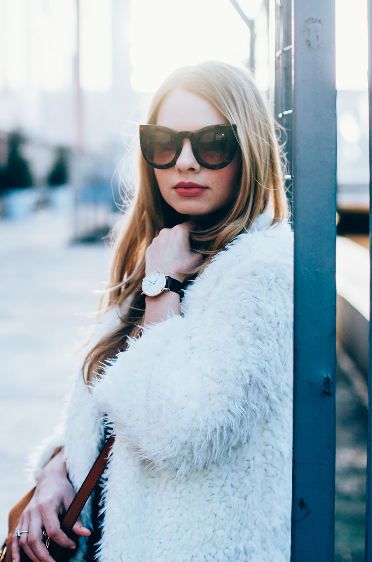 white-fluffy-cardgan-ripped-skinny-jeans-suede-boots-camel-scarf-fluffy-keyrng-cat-eye-sunglasses (11)