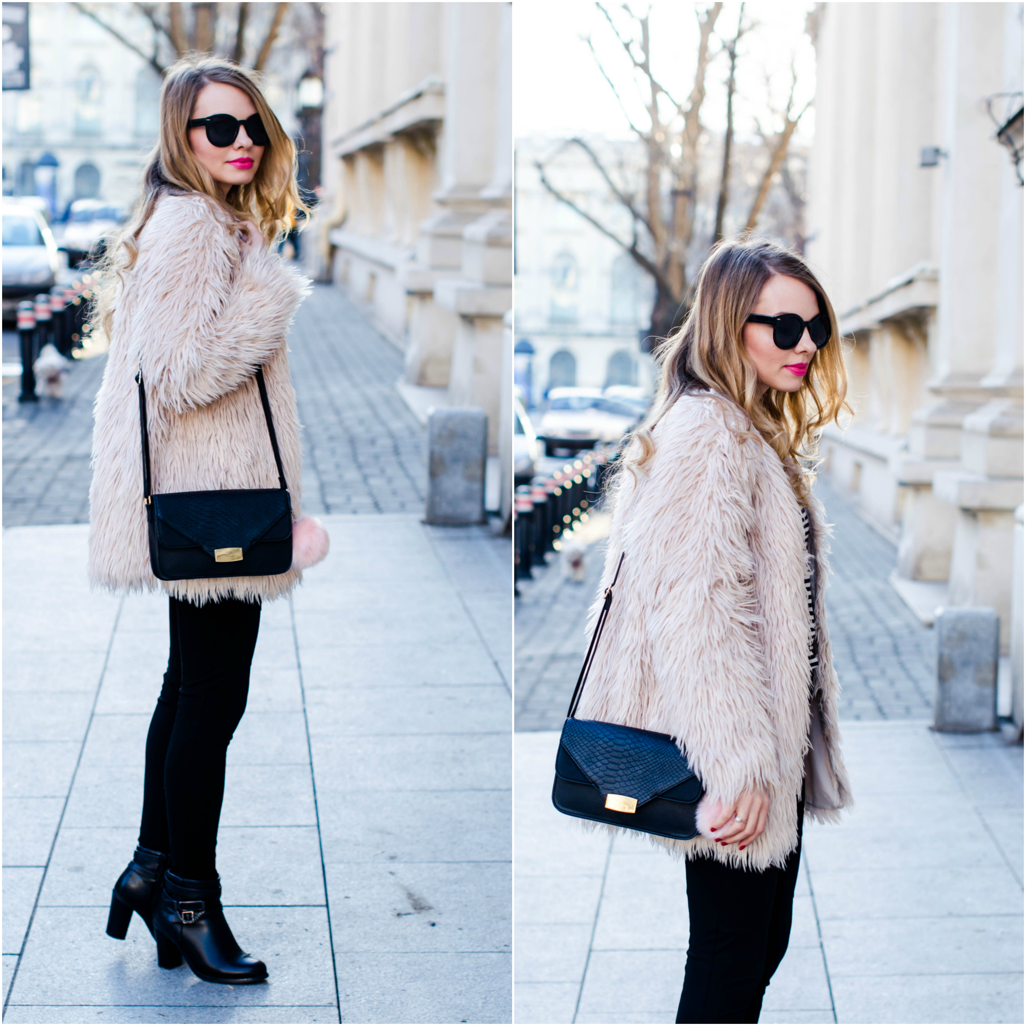 pink-fur-coat-black-pants-ankle-boots-lookbook