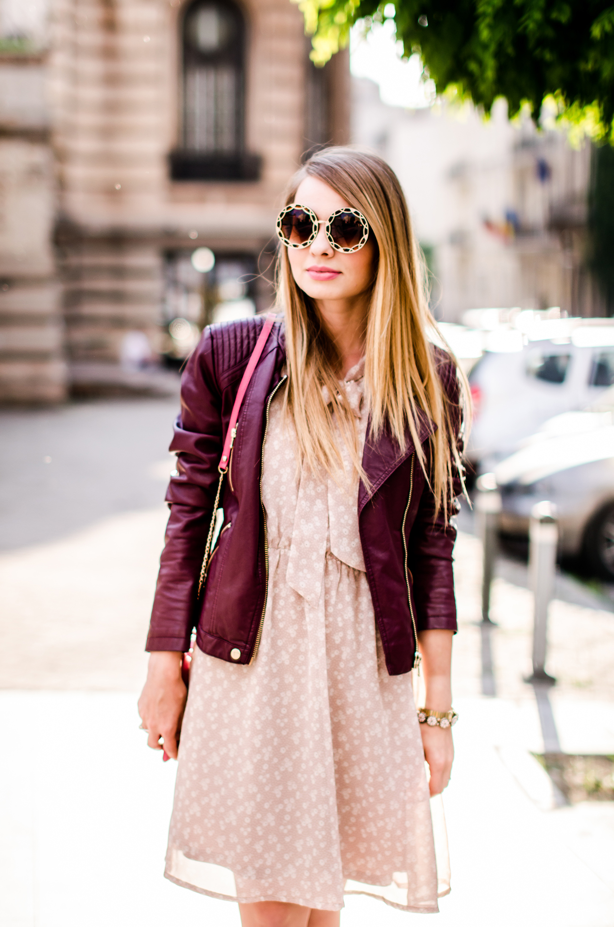 feminine-dress-bonprix-burgundy-jacket-outfit-pink-wish (1)
