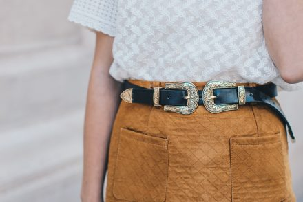 brown-suede-skirt-two-buckles-belt-1