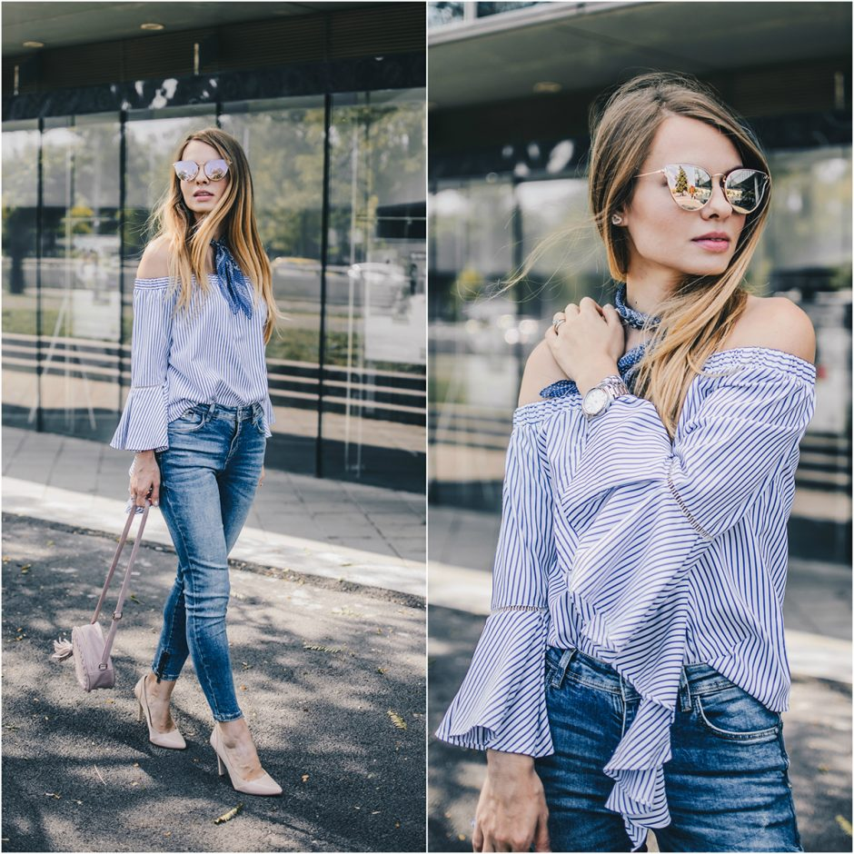 off-shoulder-ruffle-sleeves-zara-jeans-mirroredsunglasses-scarf-lookbook-pink-wish-c