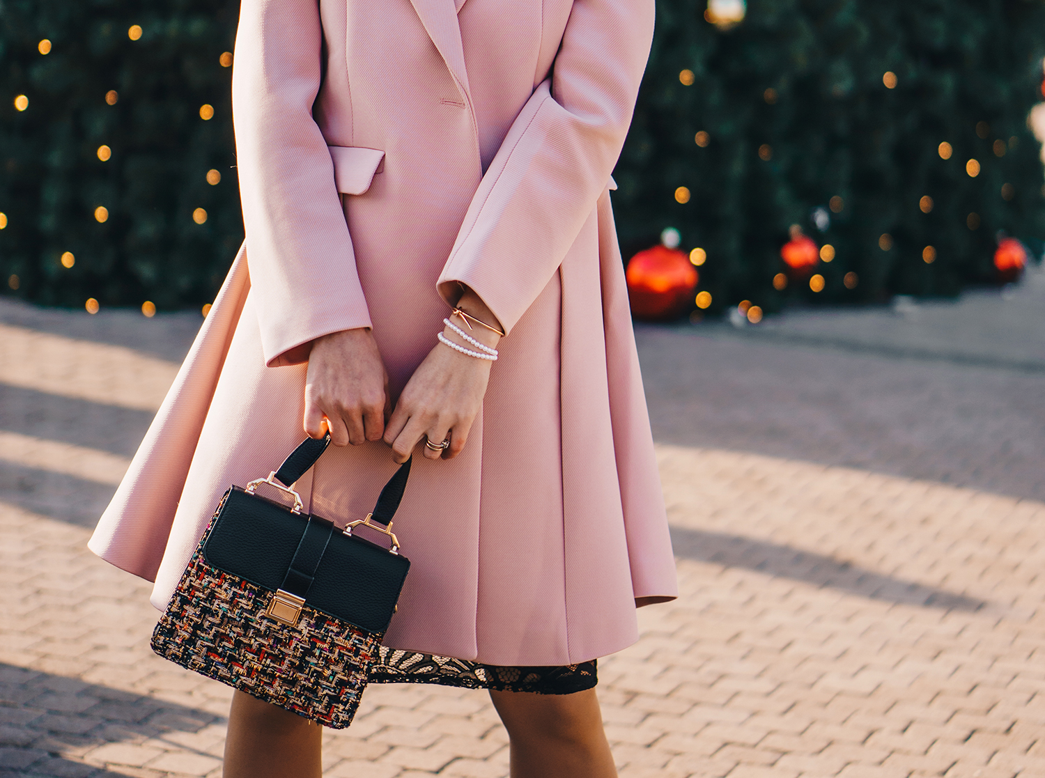 little-black-dress-pink-coat-christmas-outfit-pink-wish-14