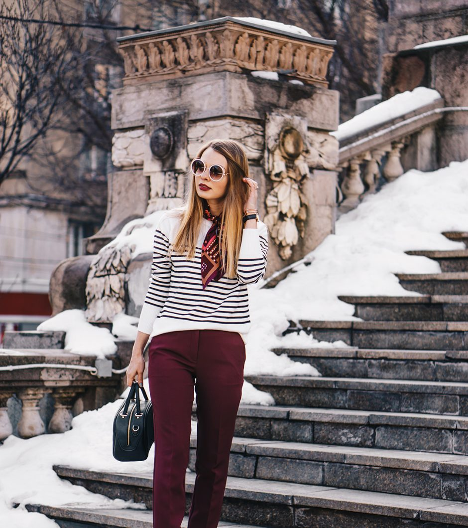 burgundy-office-pants-striped-sweater-pink-wish-outfit (3)