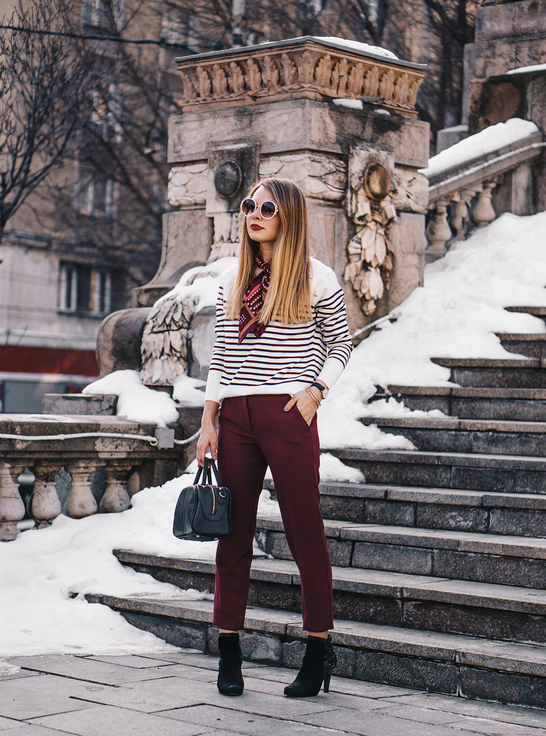 burgundy-office-pants-striped-sweater-pink-wish-outfit (4)
