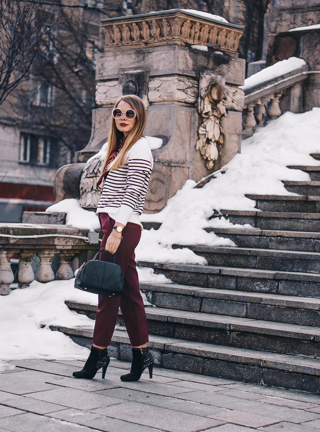burgundy-office-pants-striped-sweater-pink-wish-outfit (5)