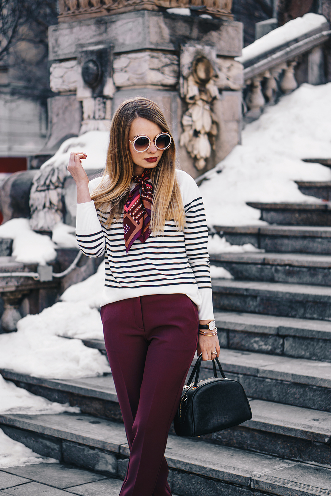 burgundy-office-pants-striped-sweater-pink-wish-outfit (8)