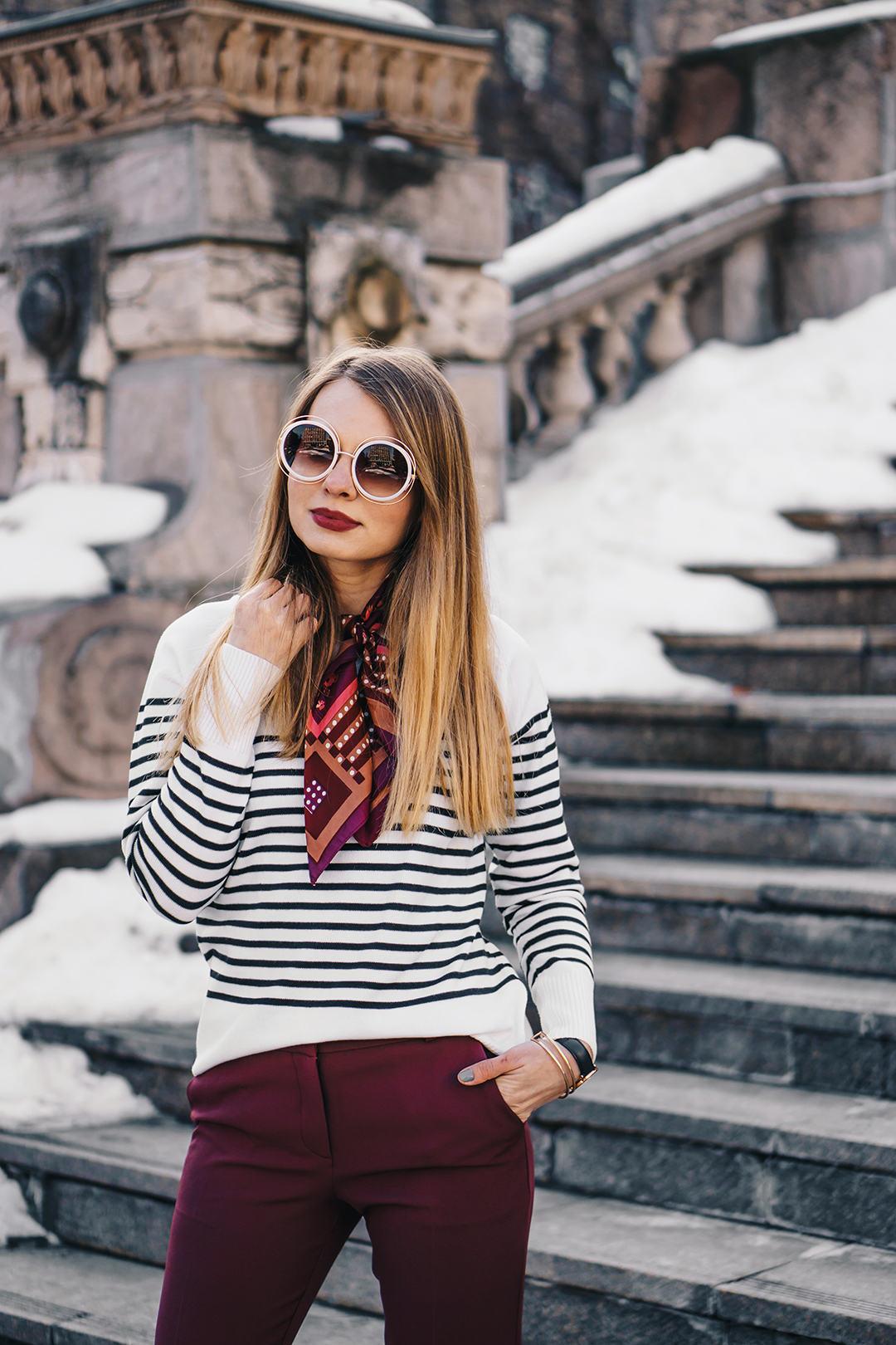 burgundy-office-pants-striped-sweater-pink-wish-outfit (9)