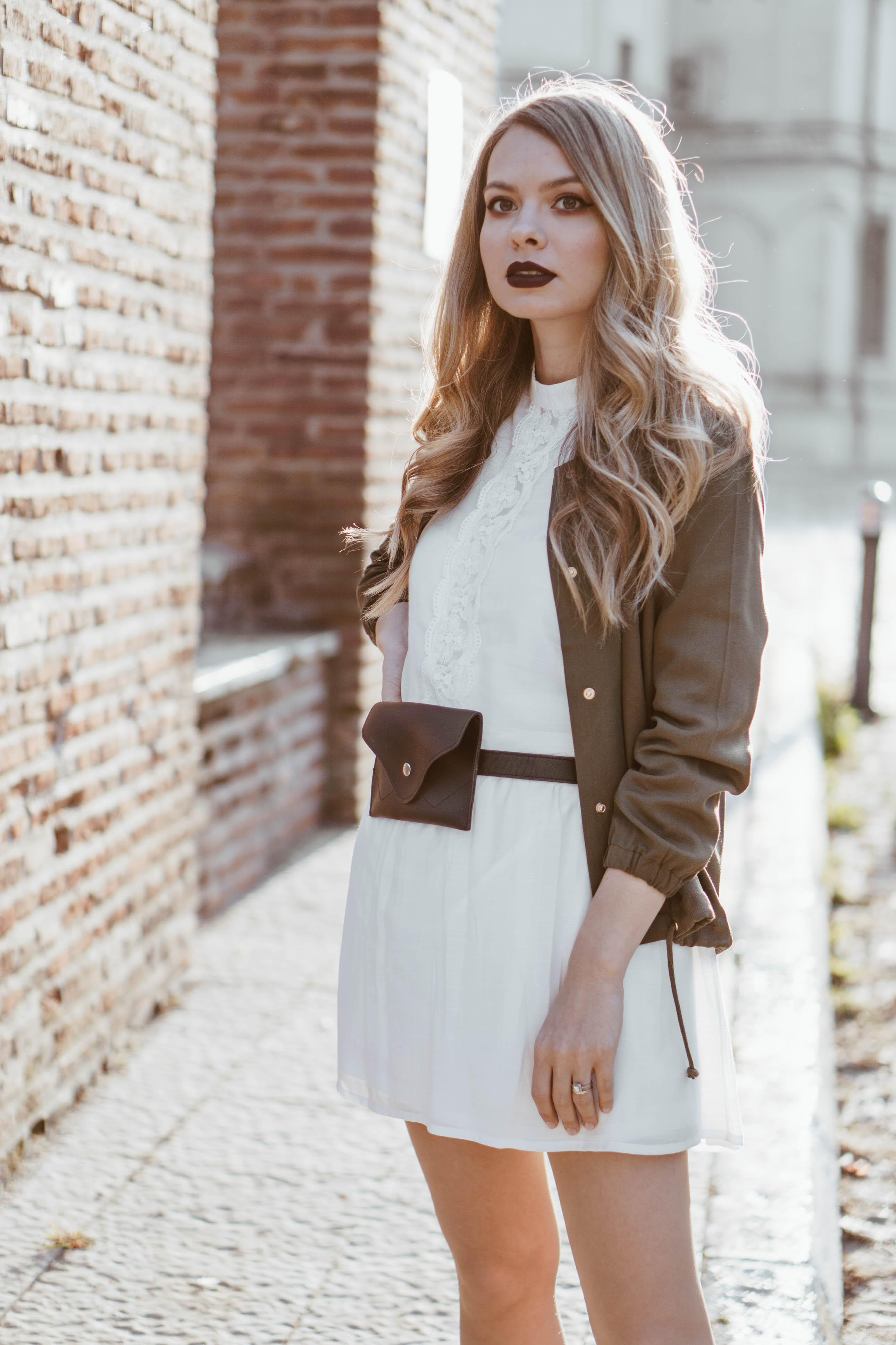 military-meets-feminine-outfit